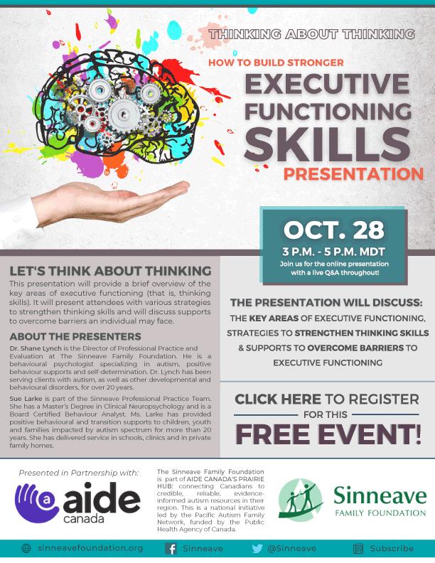 Executive Functioning Skills Presentation Poster