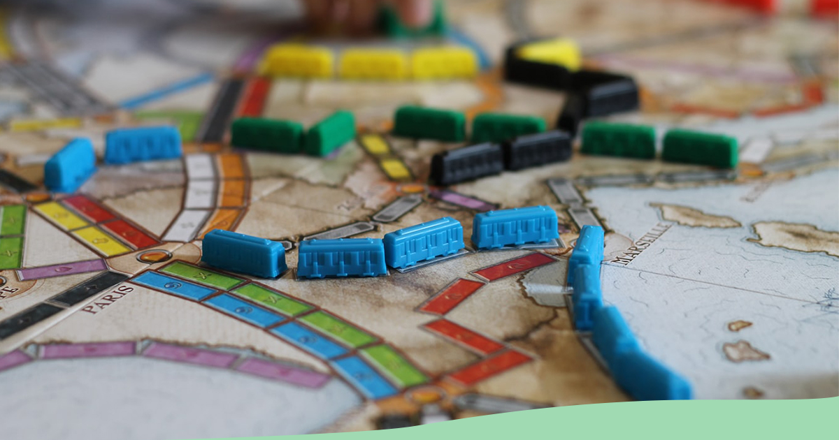 Colorful board game image