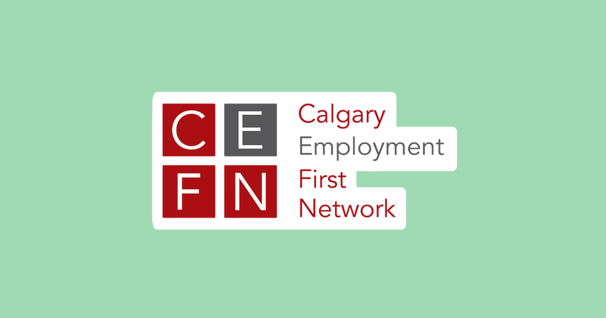 Calgary Employment First Network logo (with green background)