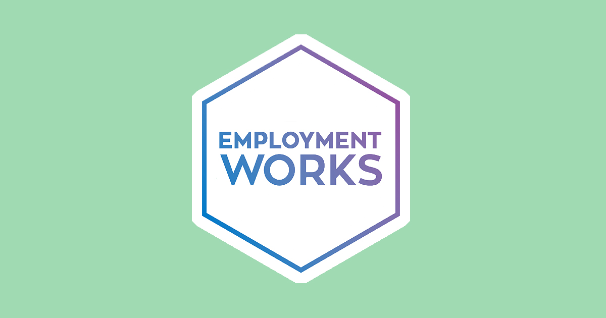 EmploymentWorks logo (with green background)