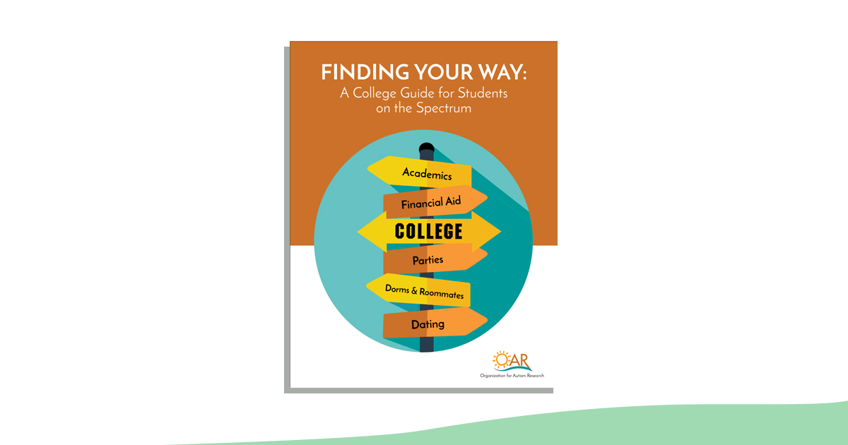 Cover image: Finding Your Way: A College Guide for Students on the Spectrum (green wave at bottom)