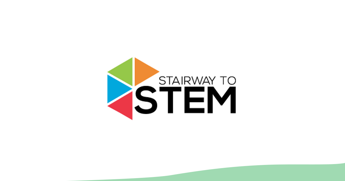 Stairway to STEM logo (with green wave at bottom)