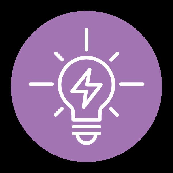 bright lightbulb symbol