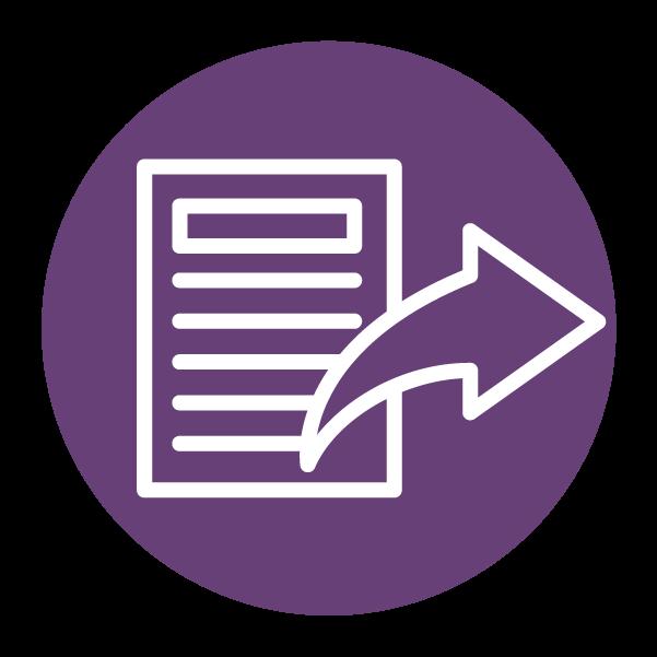 Document share symbol