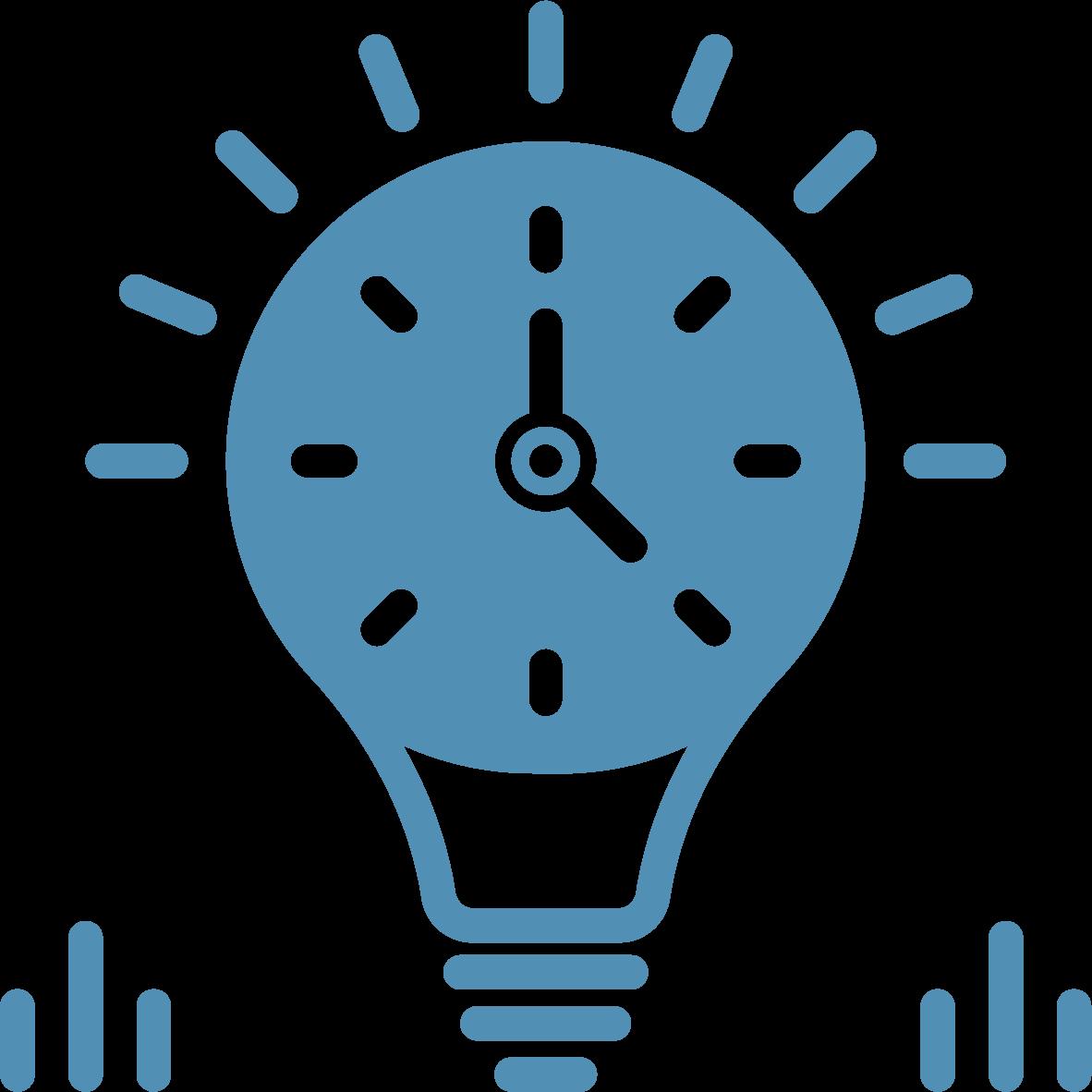 Longevity lightbulb symbol