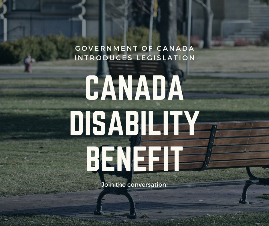 Canada Disability Benefit, Government of Canada Introduces Legislation