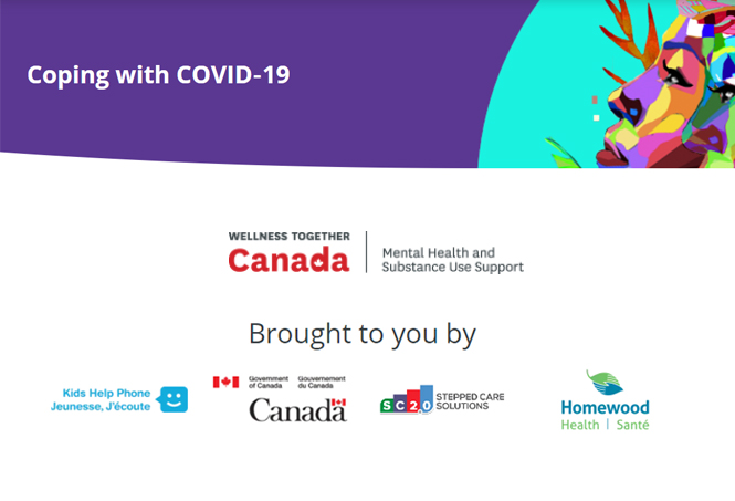 Wellness Together Canada COVID-19 Support Poster